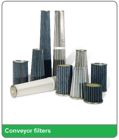 PTFE gecoate filters voor vacuumconveyors