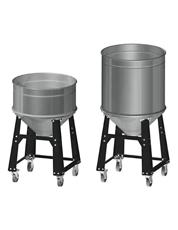 RVS rolkontainer voor vacuumconveyors
