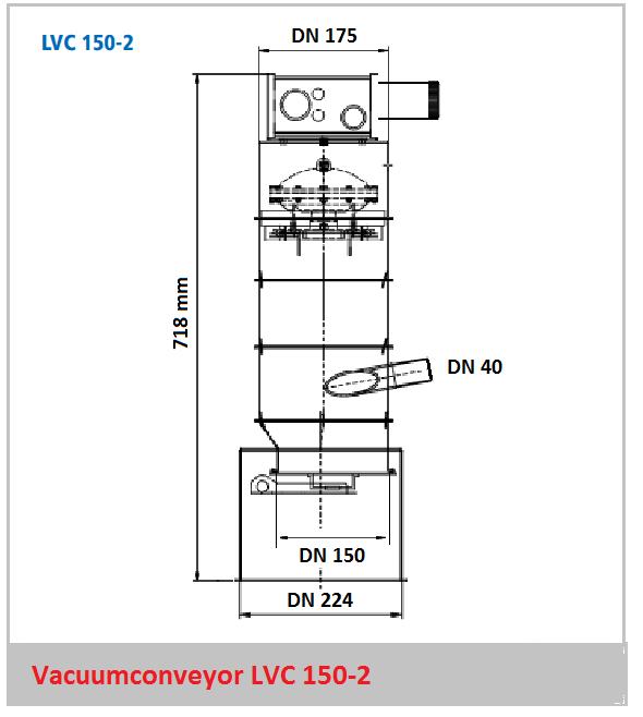 Bouwtekening vacuumconveyor LVC 150-2
