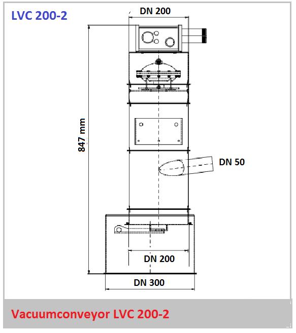 Bouwtekening vacuumconveyor LVC 200-2