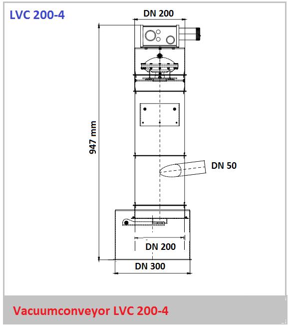 Bouwtekening vacuumconveyor LVC 200-4