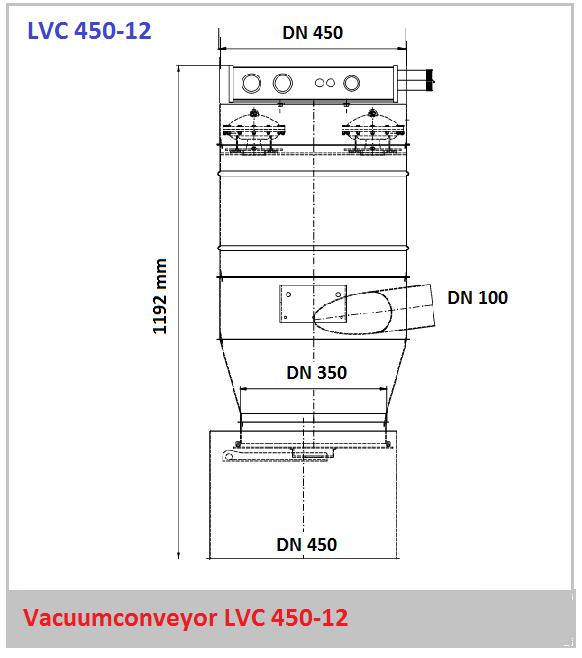 Bouwtekening vacuumconveyor LVC 450-12